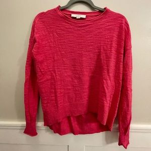 Hot Pink high-low sweater